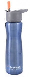 Aqua Vessel Insulated Filtration Water Bottle with 100-Gallon Filter