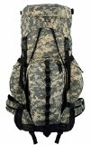 ACU Digital Camo Hiking Backpack Expandable Large ACU Camouflage Camping Backpack 6000ci-8000ci Scout Aluminum Frame Sport Travel Bag Detachable Fanny Pack