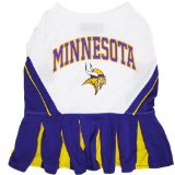 Pets First Minnesota Vikings NFL Team Pet Dog Cheerleader Sports Outfit - Small