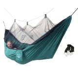 Blue Sky Outdoor Mosquito Traveler Hammock with Free Tree Straps, Green