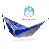 Classic Serac Ultralight Camping Hammock - FREE Tree Strap Suspension System (10 Loop Daisy Chain) Included - Perfect for Travel, Camping and Backpacking