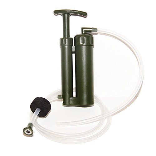 Luxmo outdoor water filter system purifier camping for Garden water filter system