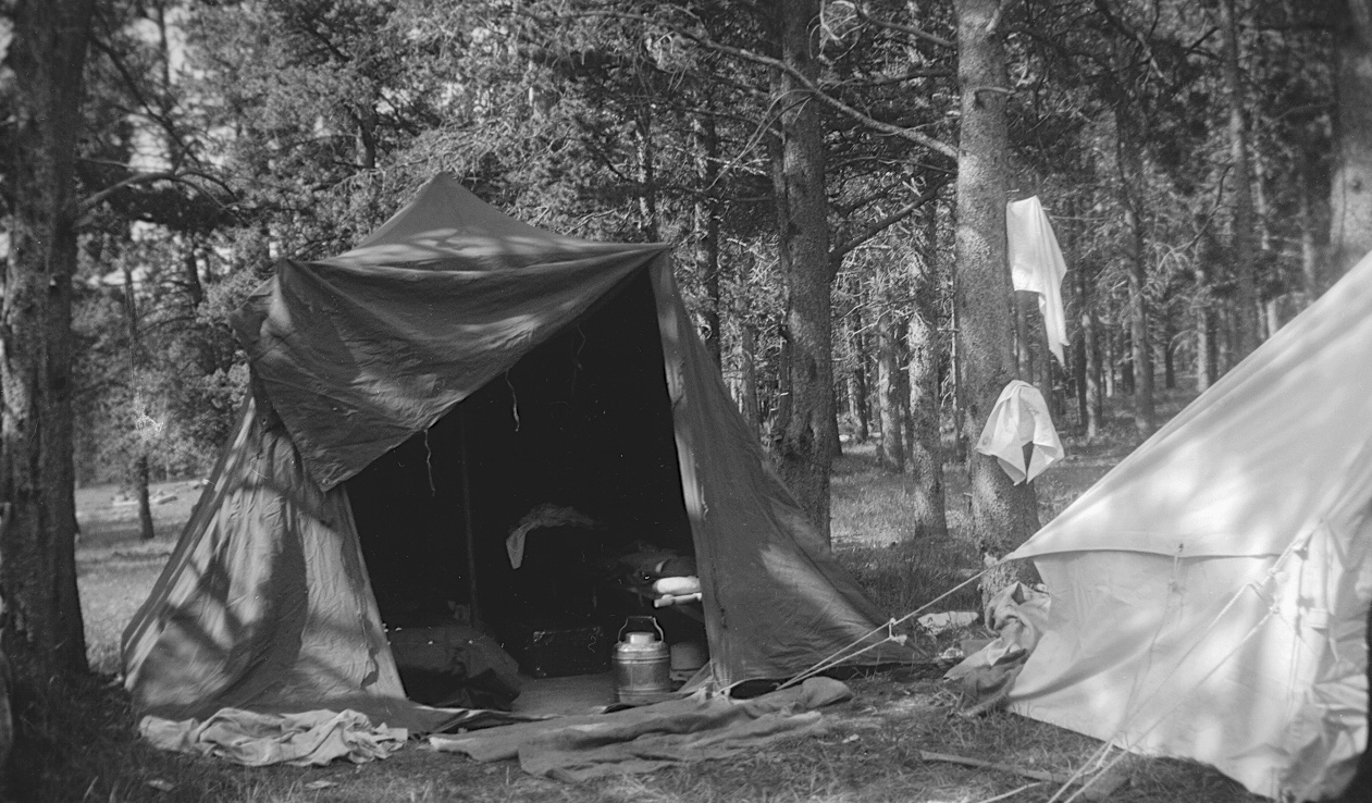 Mystery camping scene