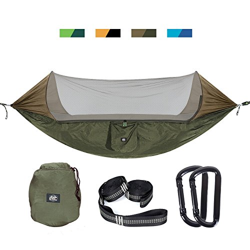 Etrol Upgraded 2 In 1 Large Camping Hammock With Mosquito